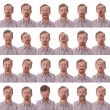 Large facial expressions - Foto Stock