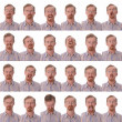 Large facial expressions - Stockfoto