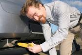 Banana and exhaust — Stock Photo