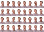 Large facial expressions — Stock Photo