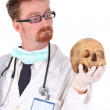 Doctor with skull — Stock Photo #1690002