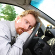 Driver sleeps in a car — Stock Photo #1692821