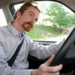 Businessman in the car — Stockfoto