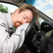 Tired driver - Stock Photo
