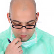 Surgeon thinking — Stock Photo #1694633