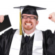 Happy graduation a young man — Stock Photo