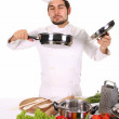Chef smelling — Stock Photo