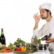 Young chef preparing lunch — Stock Photo #1696851