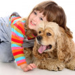 Girl and dog — Stockfoto #1697912