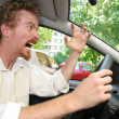 Stock Photo: Angry driver