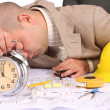 A businessman sleepy — Stock Photo