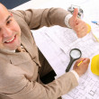 A businessman happiness - Stock Photo