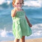 Beauty girl at beach — Stock Photo #1786145