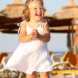 Little girl at beach — Stock Photo #1786194