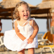 Little girl at beach — Stock Photo #1786204