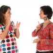 Deaf persons hand demonstrating - Lizenzfreies Foto