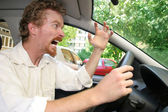 Angry driver — Stock Photo