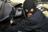 Car burglary inside — Stock Photo