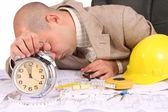 Un empresario soñoliento — Foto de Stock