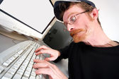 Mad programmer — Stock Photo