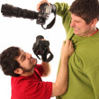 Two Professional photographers fighting — Stock Photo #1909898