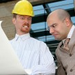 Angry architect and businessman — Stock Photo