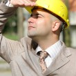 Businessman looking up — Stock Photo #2180930