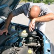 Checking the engine of a car — Stockfoto