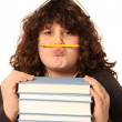 Boy with pencil and books — Stock Photo #2185606