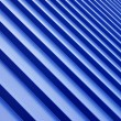 Stock Photo: Blue metal roof