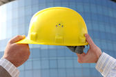 A protective engineer's helmet — Stock Photo
