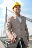 Businessman walking — Stock Photo