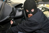 Car burglary — Stock Photo