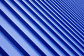 Blue metal roof — Stock Photo