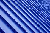 Techo de metal azul — Foto de Stock