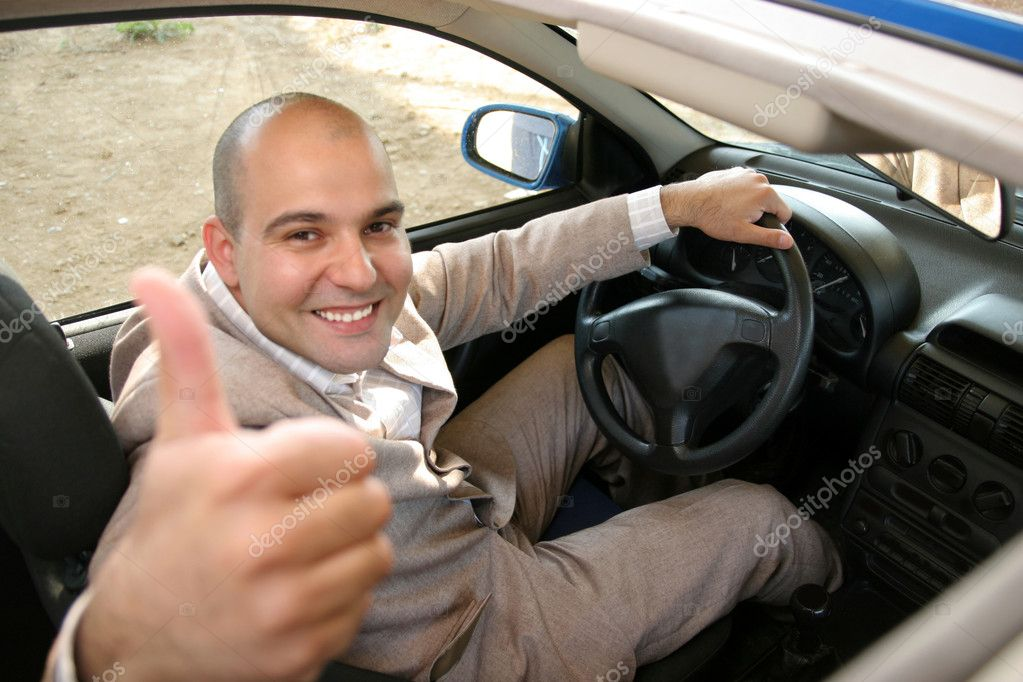 Businessman in the car, inside — Stock Photo #2181513