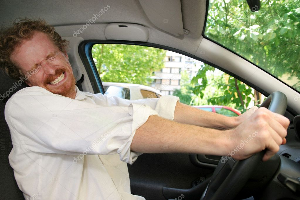 Driver moment away from accident — Stock Photo #2183256