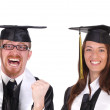 Two successful student — Stock Photo