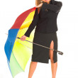 Stock Photo: Young girl with umbrella