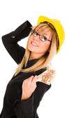 Een zakenvrouw met winst — Stockfoto