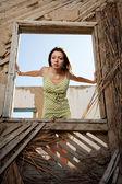 Women in the window — Stock Photo