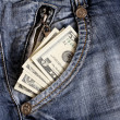 Money in pocket — Stock Photo #1719447