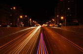 Night city road — Stock Photo