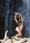 The woman warrior — Stock Photo
