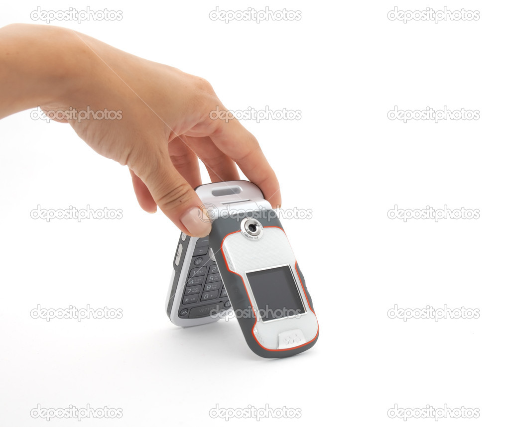 Female hand and cell phone — Stock Photo #1721252