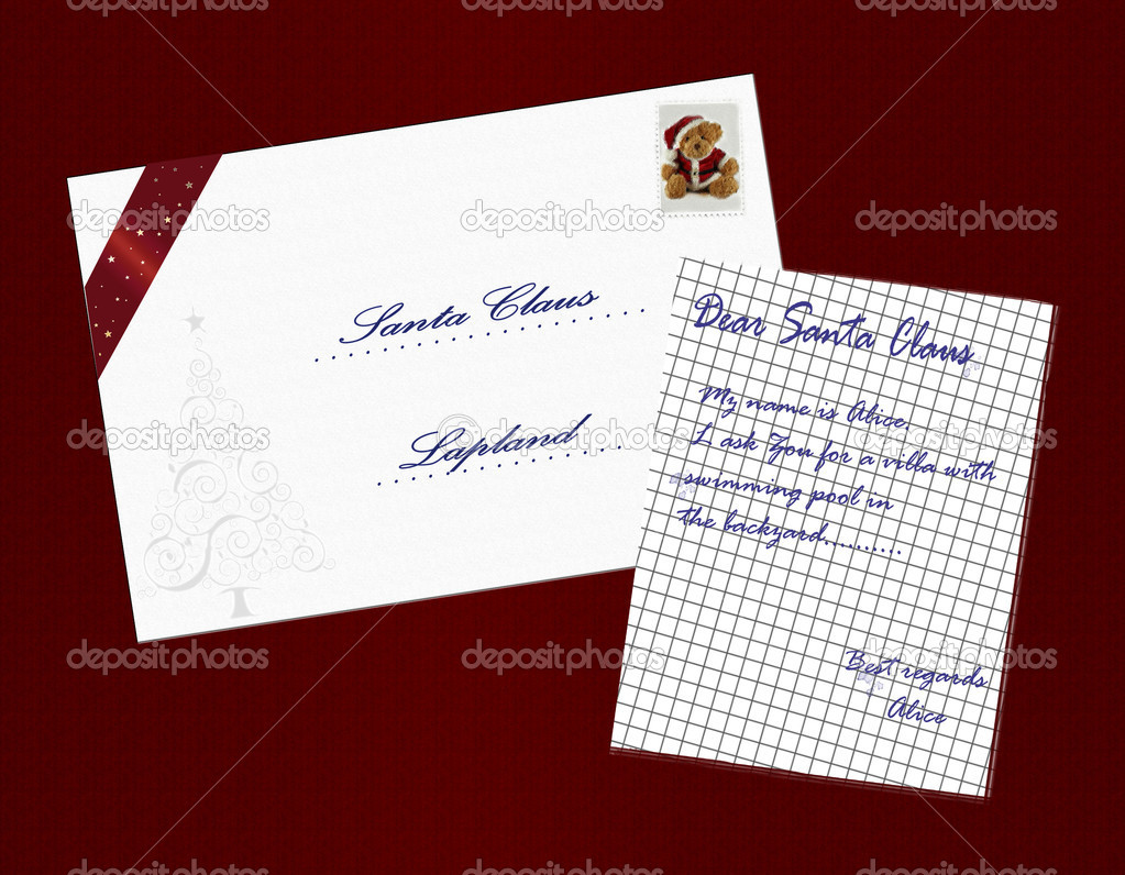 Christmas letter to Santa Claus  Stock Photo #2056037