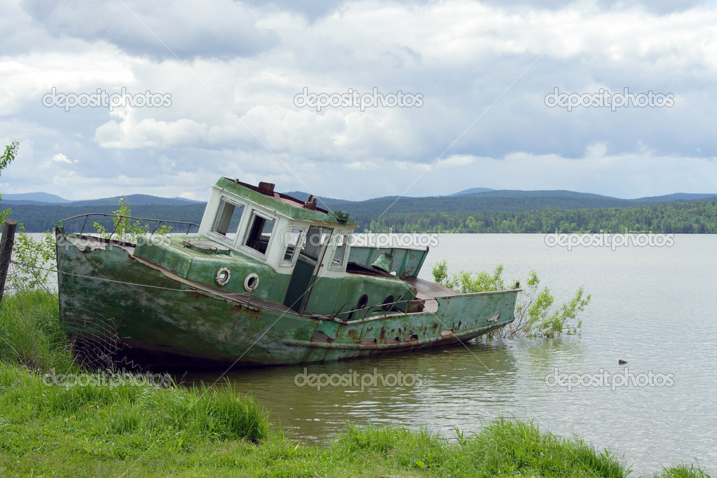 Big lake berchikul an old boat stock photo oroch2 for What to do with an old boat