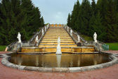 Peterhof Fountain Golden Mountain — Stock Photo