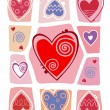 Stock Vector: Valentines day background with heart