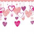 Valentines day background with heart — Stock Vector #1730254